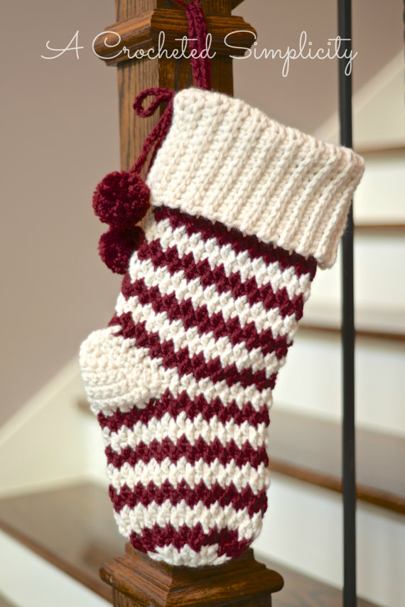 Jolly Textured Christmas Stocking