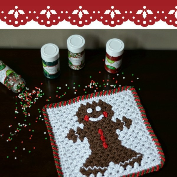 #12WeeksChristmasCAL – Gingerbread Hot Pad