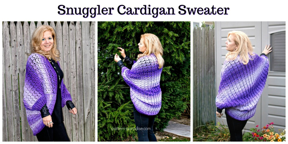 Free Crochet Pattern Snuggler Cardigan Sweater Pattern Paradise