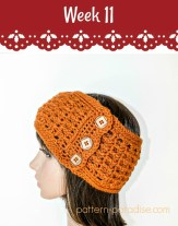 Free Crochet Pattern Ridgy Headband on Pattern-Paradise.com