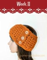 Free Crochet Pattern Ridgy Headband on Pattern-Paradise.com