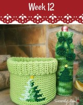 Christmas Basket and Bottle Cozy