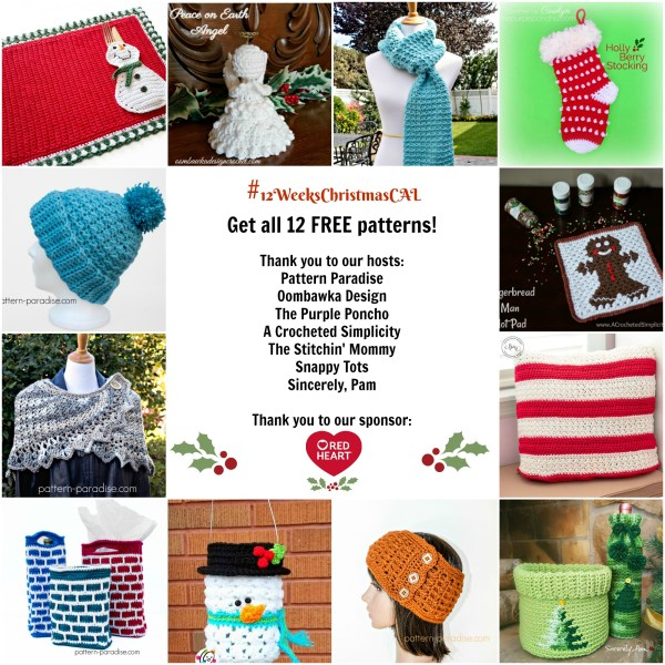 #12WeeksChristmasCAL – 12 FREE Patterns & Giveaway!