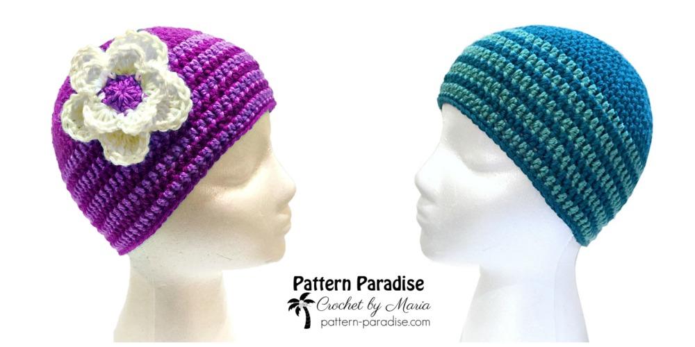 Free Crochet Pattern Basic Beanie Pattern Paradise