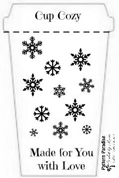 Printable: Holiday Cup Cozy Template