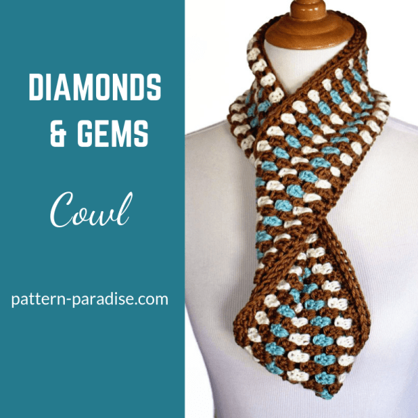Free Crochet Pattern: Diamonds & Gems Cowl