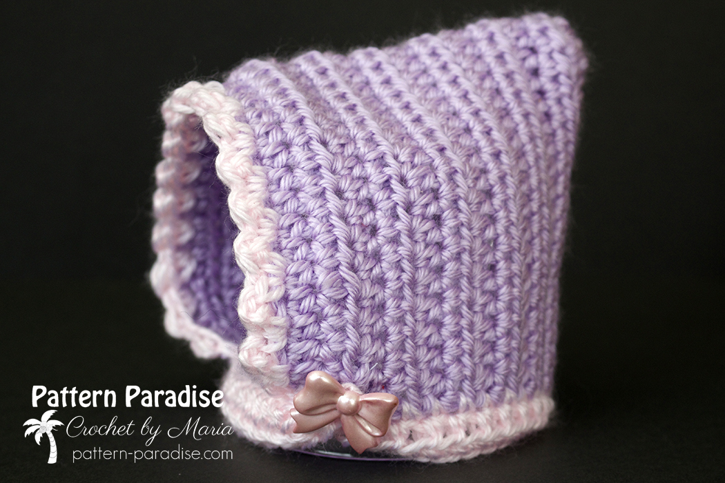 Free Crochet Pattern Fuzzy Bonnet Pattern Paradise