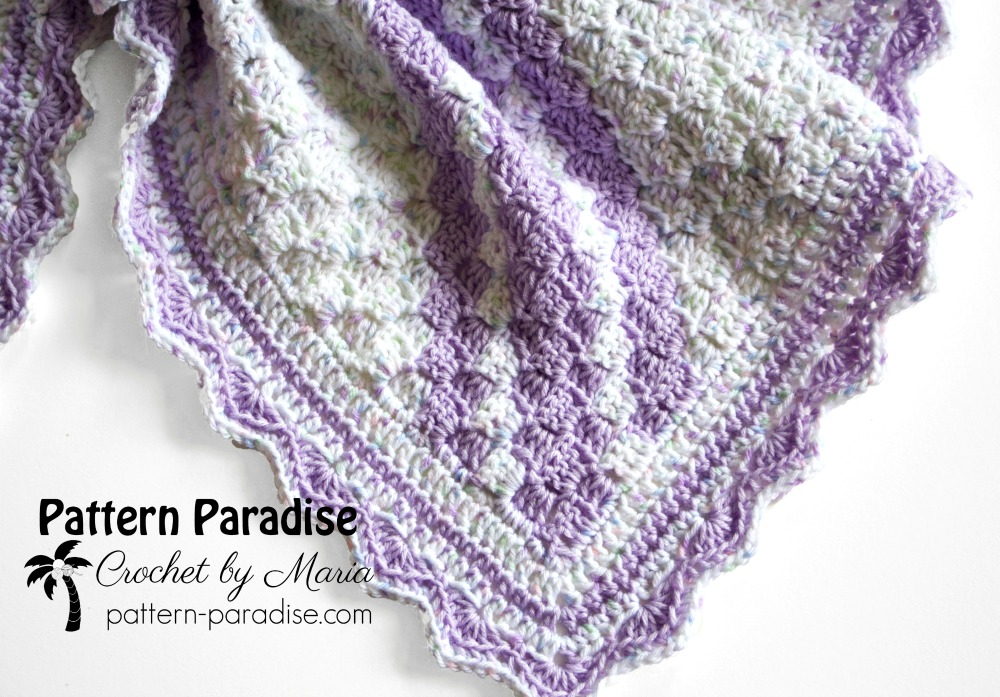 Free crochet pattern confetti c2c baby blanket pattern paradise i think the border is the best part of any blanket or afghan and so i wanted something that was simple and elegant but had a pop too dt1010fo