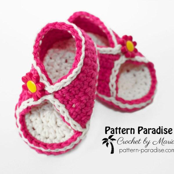 Free Crochet Pattern: Peek-A-Boo Sandals