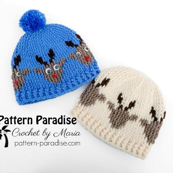 Free Crochet Pattern: Reindeer Hat