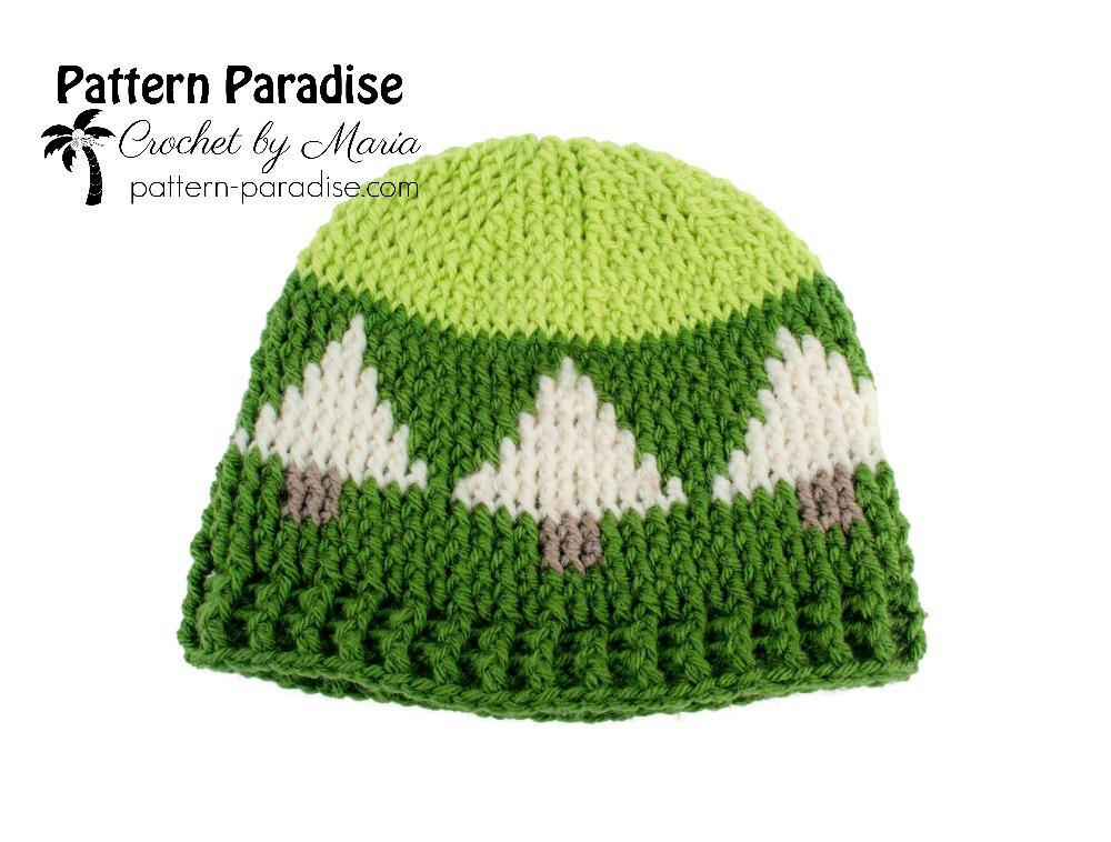 Free Crochet Pattern Christmas Tree Hat Pattern Paradise