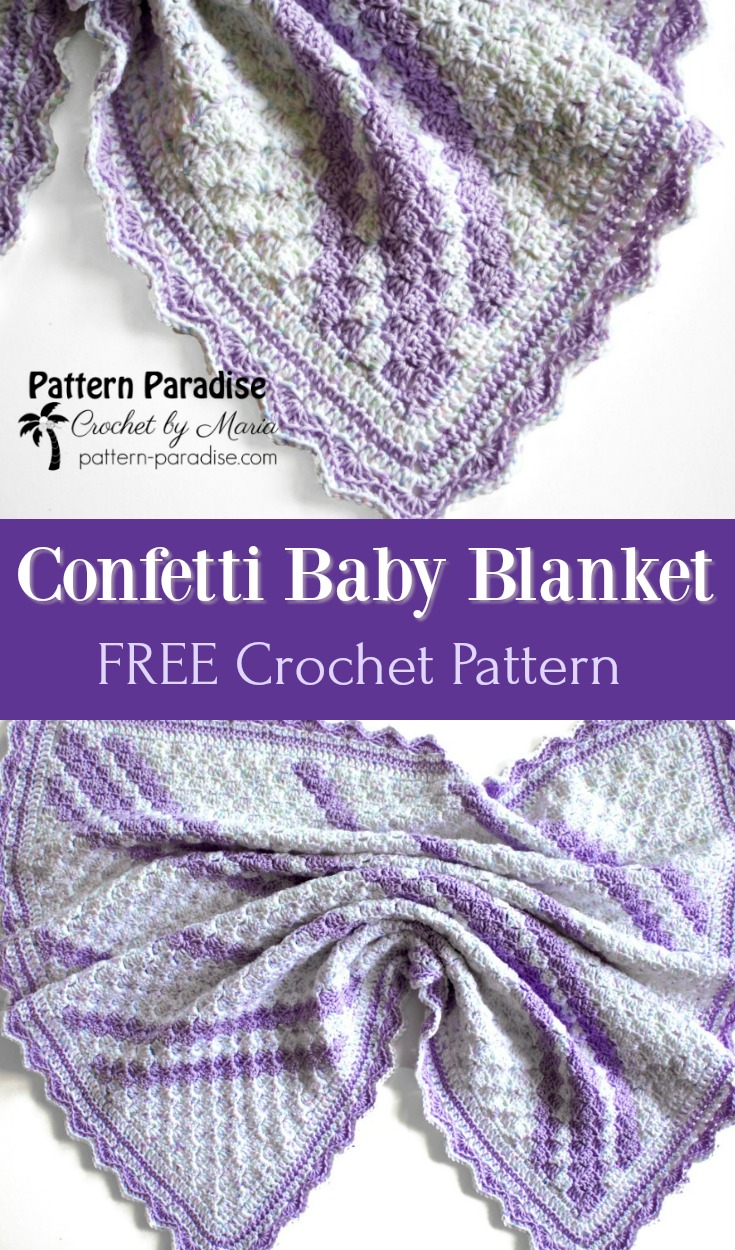 Free Crochet Pattern Confetti C2c Baby Blanket Pattern Paradise