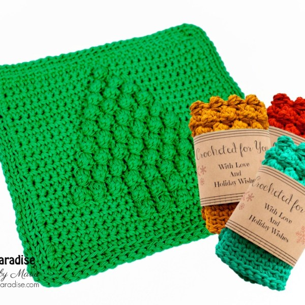 Free Crochet Pattern: Christmas Tree Dish Cloth