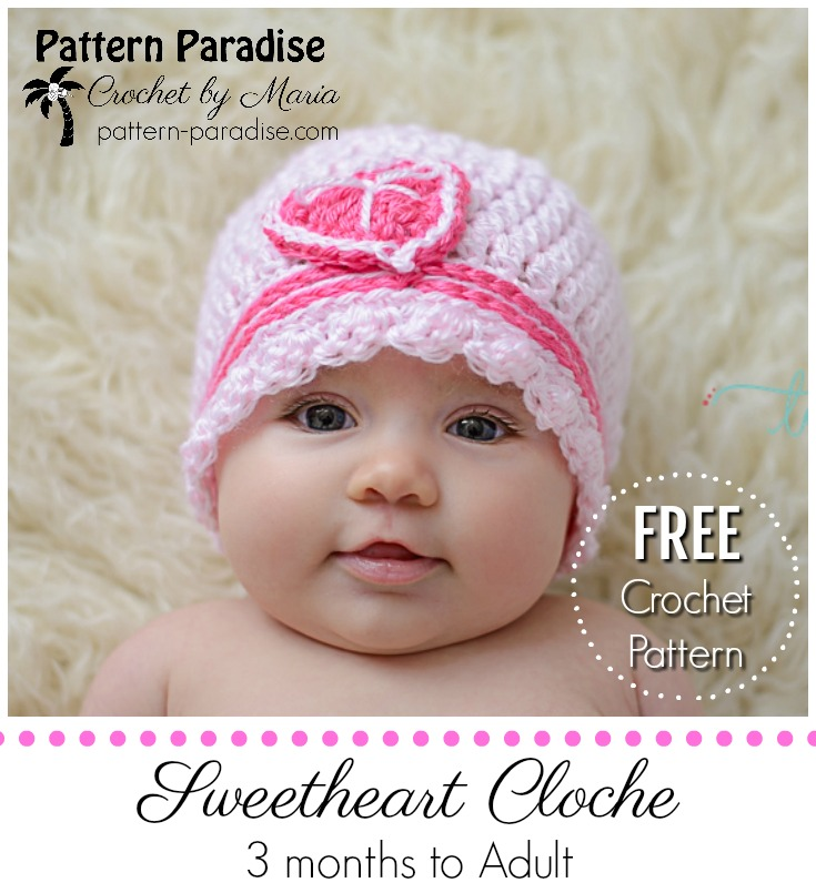 Free Crochet Pattern: Sweetheart Cloche | Pattern Paradise