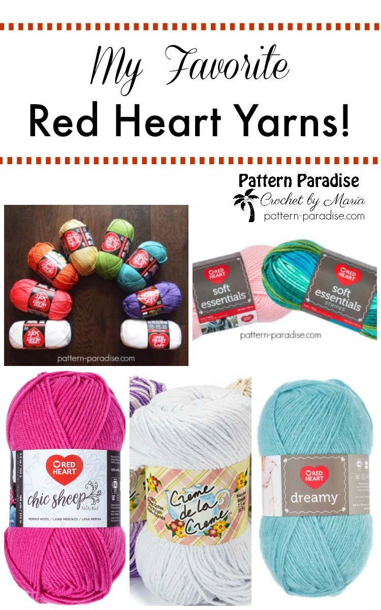 Red Heart Yarn Pattern Paradise