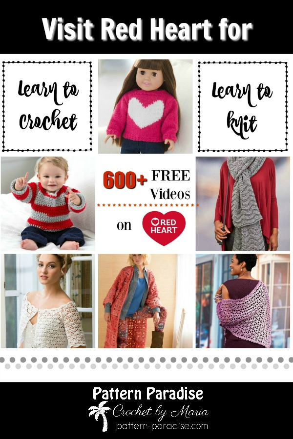 Crochet Finds Red Heart Yarns Crochet Videos Pattern Paradise