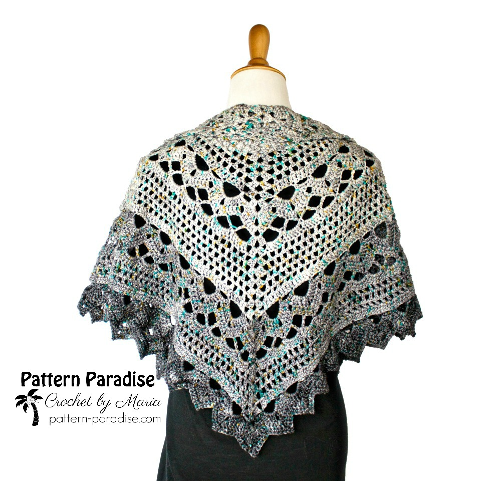 Spring Showers Shawl CAL: Ad-free PDF now available! | Pattern Paradise