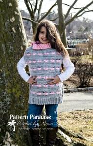 496ea05a2 Free Crochet Pattern  Sweetheart Poncho