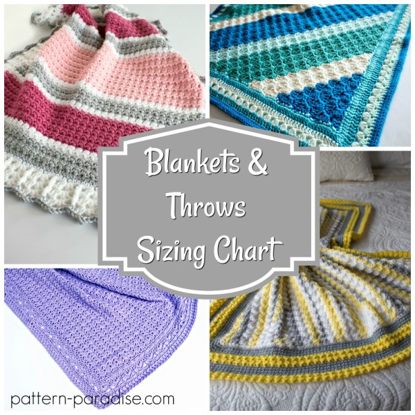 Blanket Size Chart from Lovey to King Sizes!