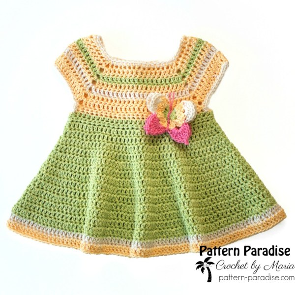 Free Crochet Pattern: Butterfly Kisses Dress