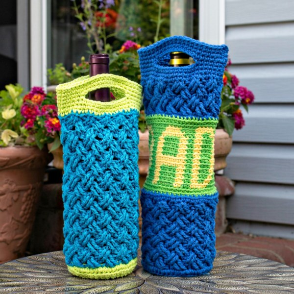 Free Crochet Pattern: Celtic Bottle Bag