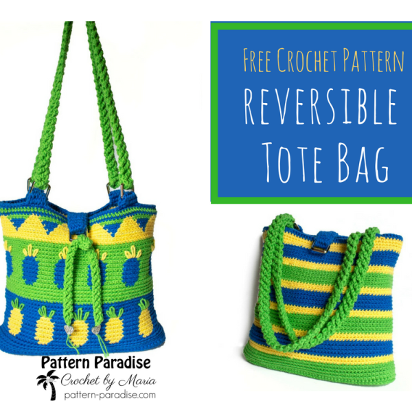 Free Crochet Pattern: Pineapple Tote Bag