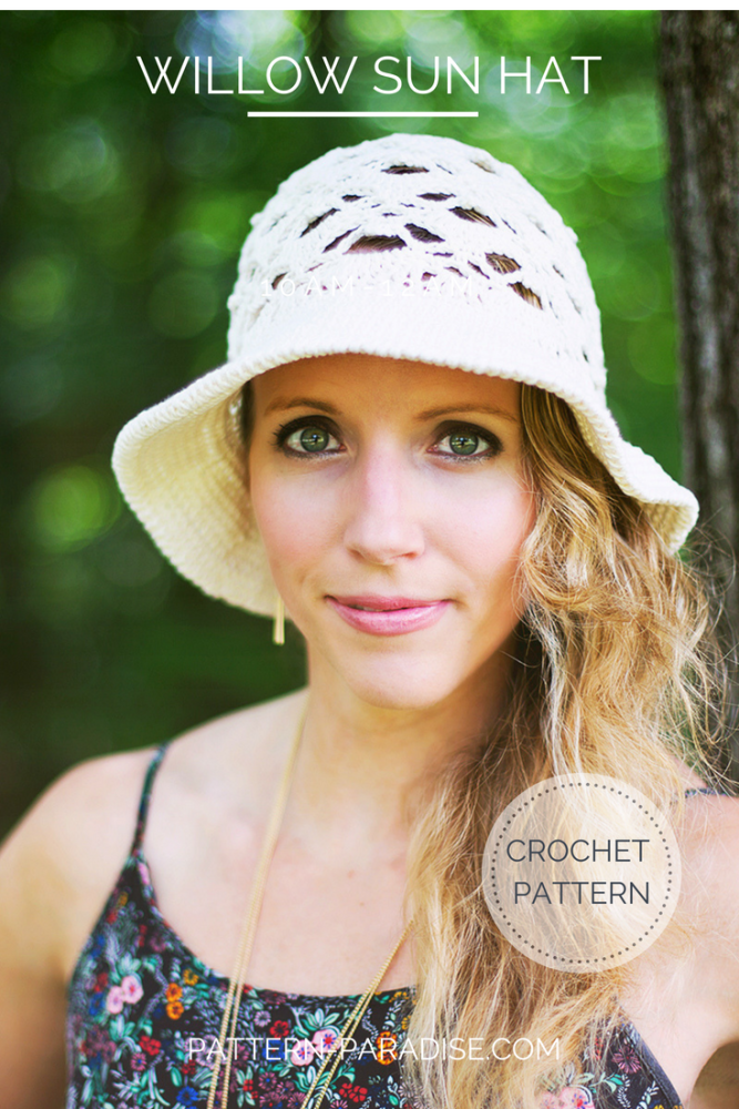 Crochet Pattern Willow Sun Hat