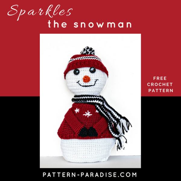 Free Crochet Pattern: Sparkles The Snowman