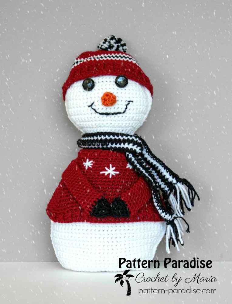 Crochet Pattern Sparkles the Snowman