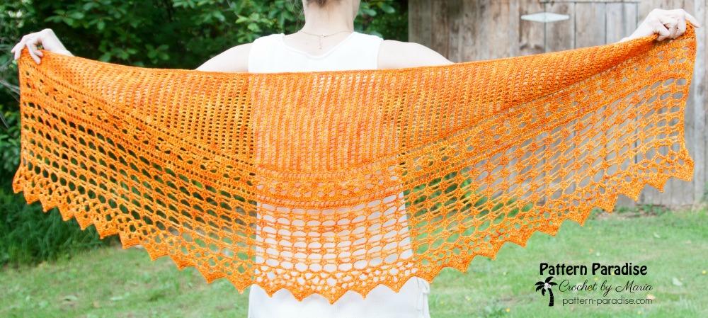 Autumn Jewels Wrap Crochet-Part 2