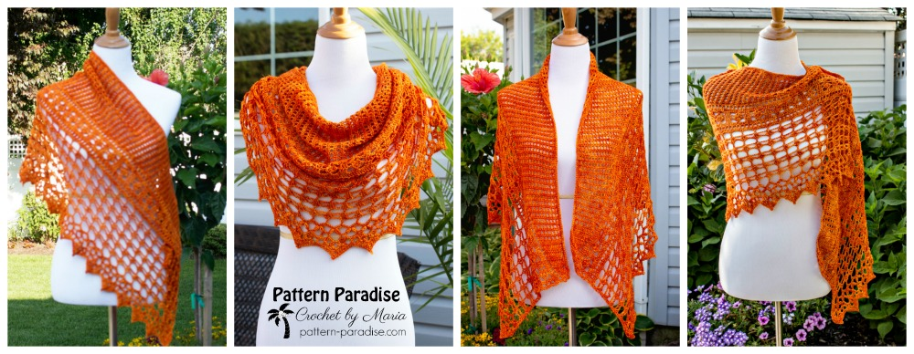 Crochet Pattern Autumn Jewels Wrap