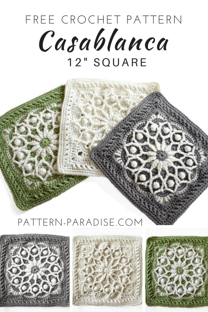 Free Crochet Pattern Casablanca Crochet Square Pattern Paradise Cool Crochet Design Patterns