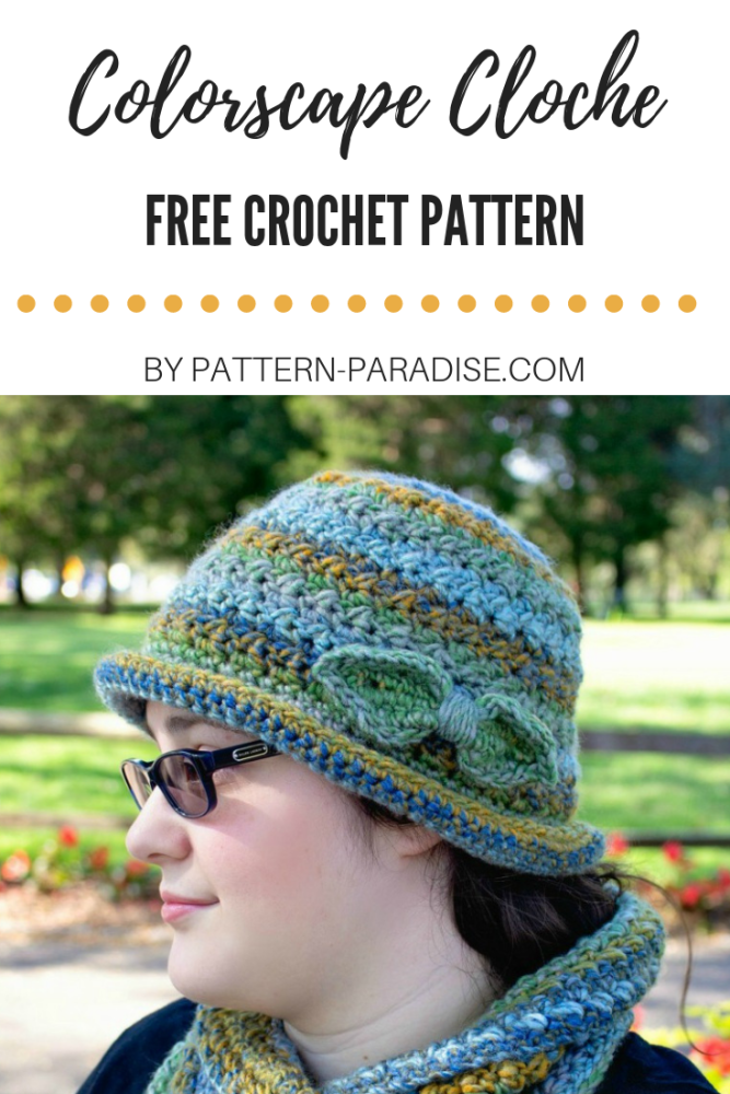 Free Crochet Pattern: Colorscape Cloche | Pattern Paradise