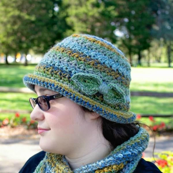 Free Crochet Pattern: Colorscape Cloche