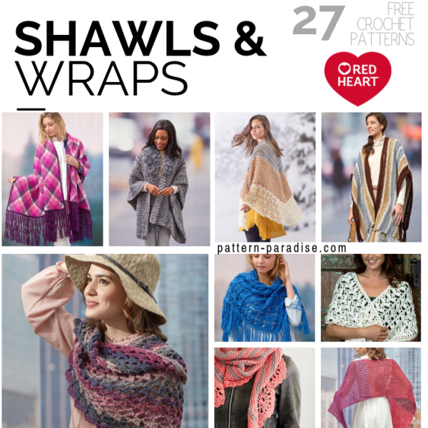 Crochet Finds – Shawls and Wraps from Red Heart Yarns!