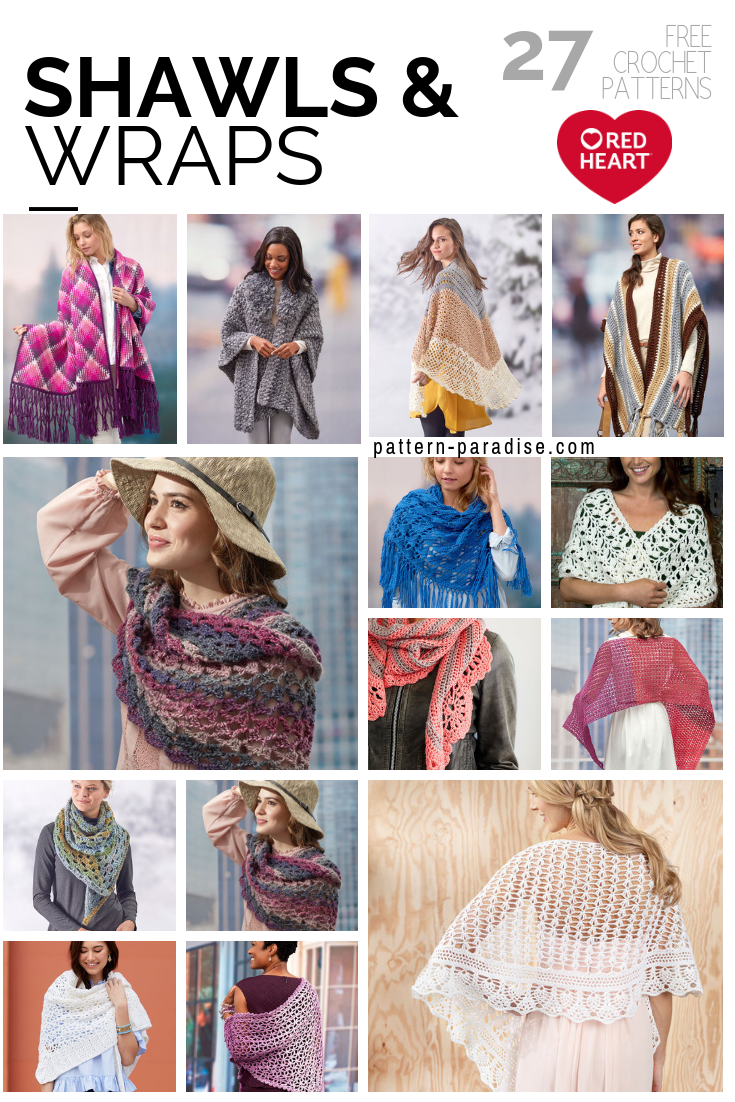 Crochet Finds Shawls And Wraps From Red Heart Yarns