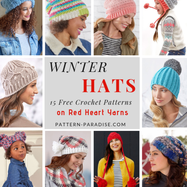 Crochet Finds – Winter Hats from Red Heart Yarns!
