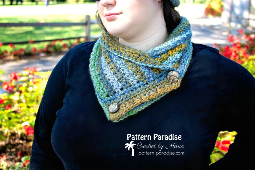 Free Crochet Pattern: Colorscape Cowl