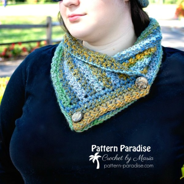 Free Crochet Pattern: Colorscape Cowl