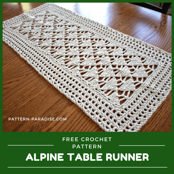 #12WeeksChristmasCAL – Alpine Table Runner