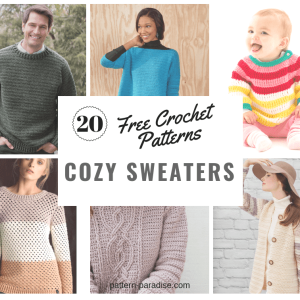 Crochet Finds – Make Cozy Sweaters With Red Heart!