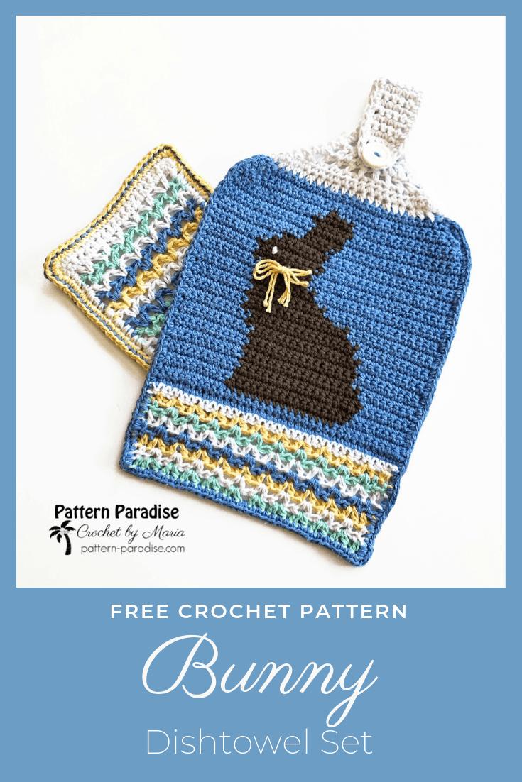 Bunny Dishtowel crochet pattern