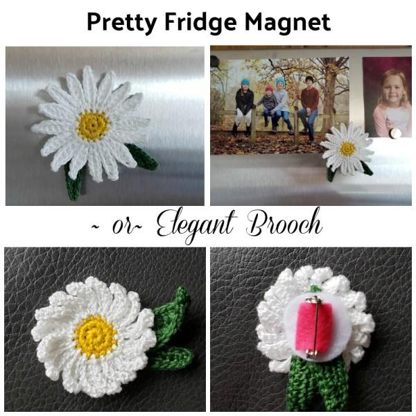 Daisy Fridge Magnet