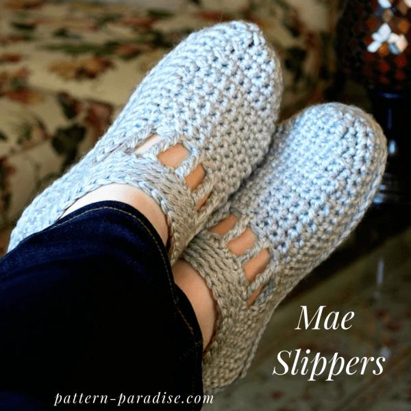 Free Crochet Pattern: Mae Slippers