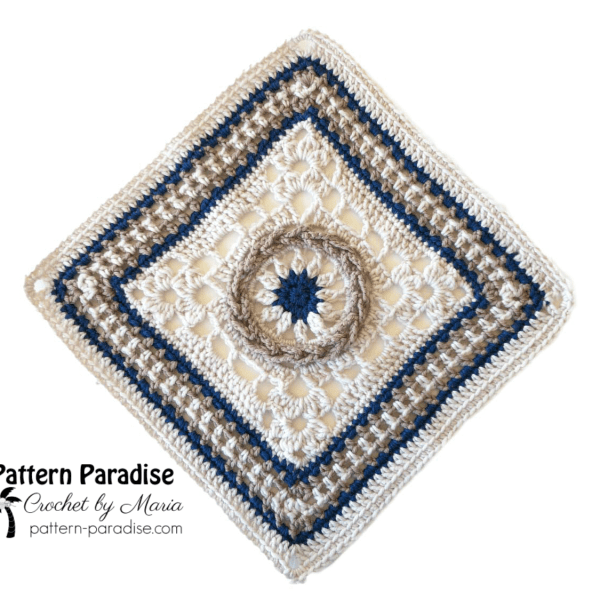 Free Crochet Pattern: Circle Of Life 12″ Square