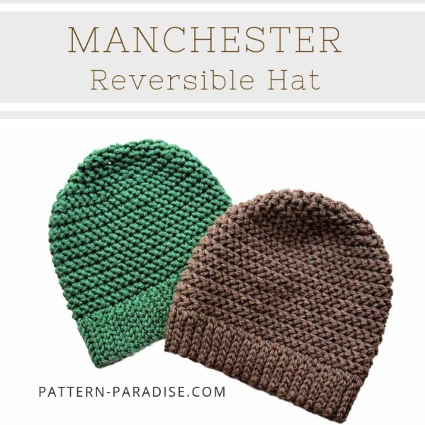 Free Crochet Pattern: Manchester Reversible Hat