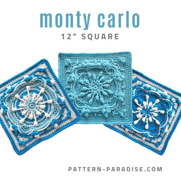 Free Crochet Pattern: Monty Carlo Crochet Square