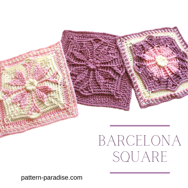 Free Crochet Pattern: Barcelona Crochet Square