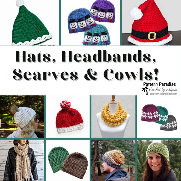 Crochet Finds – Hats, Headbands, Scarves and Cowls!