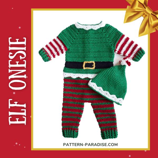 Free Crochet Pattern: Elf Baby Onesie